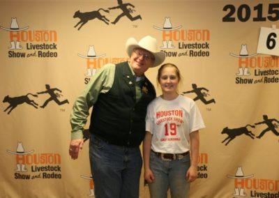 2015 calf winner Kristen Massingill with Tom Shearer